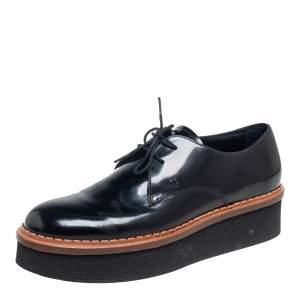 Tod's Black Patent Leather Platform Oxford Size 38