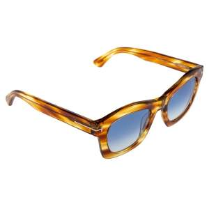 Tom Ford Brown/Blue Gradient Greta Wayfarer Sunglasses