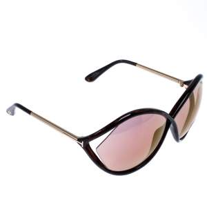 Tom Ford Brown/Gold Liora Oversize Sunglasses
