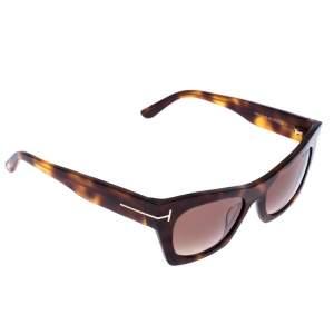 Tom Ford Light Brown Tortoise Kasia Cat Eye Sunglasses