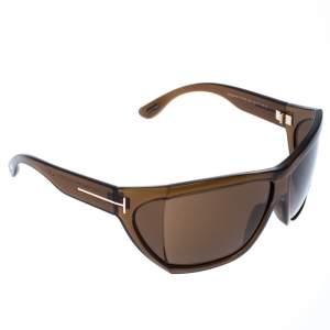 Tom Ford Brown Sedgewick Oversize Sunglasses