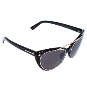 Tom Ford Black Edita Cat Eye Sunglasses