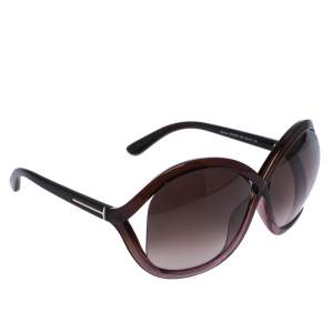Tom Ford Burgundy/ Brown Gradient TF9297 Sandra Butterfly Sunglasses