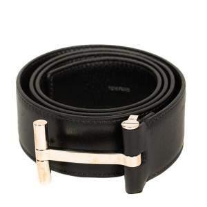 Tom Ford Black Leather T Buckle Belt 85CM