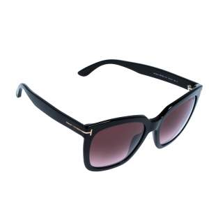 Tom Ford Black/ Bordeaux Gradient FT0502/S Amarra Wayfarer Sunglasses