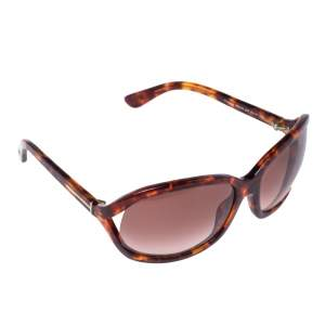 Tom Ford Brown Havana/ Bordeaux Gradient TF278 Vivienne Oval Sunglasses