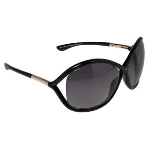 Tom Ford Black / Smoke Gradient Polarized FT0009 Whitney Oversized Sunglasses