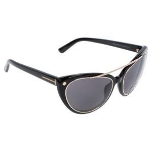 Tom Ford Black Edita Cat Eye Sunglasses