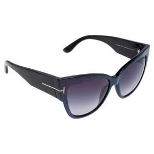 Tom Ford Iridescent Purple/ Blue Gradient Anoushka TF371 Cat Eye Sunglasses