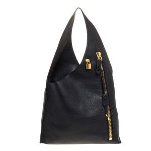 Tom Ford Black Leather Alix Hobo