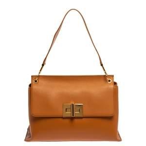 Tom Ford Tan Leather Natalia Shoulder Bag