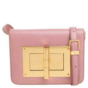 Tom Ford Pink Leather Small Natalia Crossbody Bag