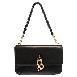 Tom Ford Black Leather Carine Flap Bag