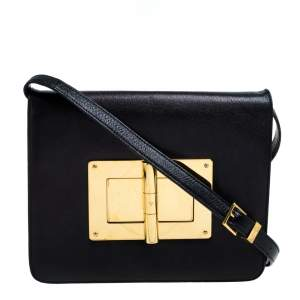 Tom Ford Black Leather Natalia Shoulder Bag