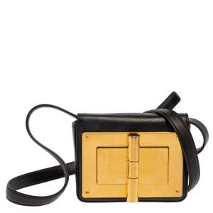 Tom Ford Black Leather Mini Natalia Shoulder Bag