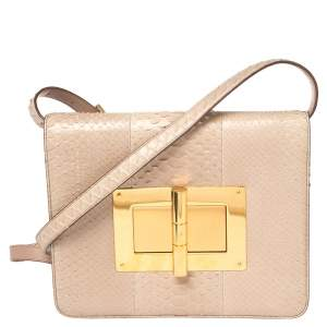 Tom Ford Python Large Natalia Shoulder Bag