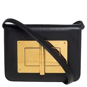 """حقيبة كروس توم فورد """"ناتاليا"""" جلد أسود"""