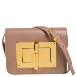 حقيبة كروس توم فورد ناتاليا جلد بيج صغيرة