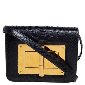 Tom Ford Black Python Small Natalia Crossbody Bag