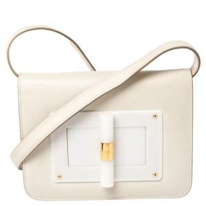 Tom Ford White Leather Small Natalia Crossbody Bag