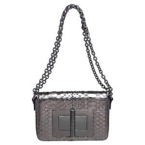Tom Ford Metallic Python Medium Natalia Shoulder Bag