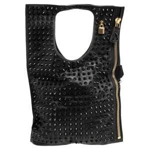 Tom Ford Black Leather Alix Studded Shoulder Bag