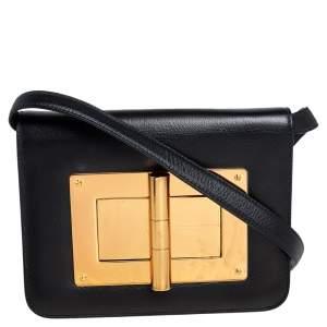 Tom Ford Black Leather Small Natalia Shoulder Bag