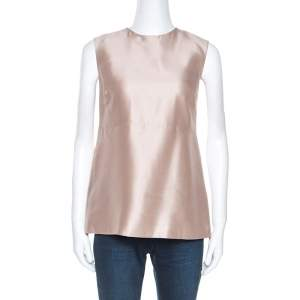 Tory Burch Beige Silk Sleeveless Top M