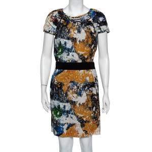 Tory Burch Multicolor Printed Silk Belted Mini Dress M