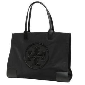 Tory Burch Black Leather Ella Shopper Tote Bag