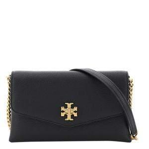 Tory Burch Black Leather Kira Double Strap Bag