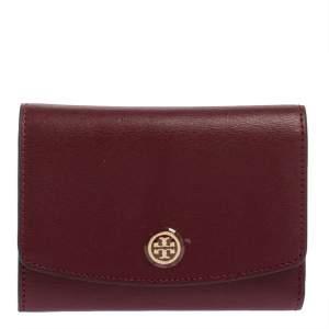 محفظة توري برش روبينسون جلد عنابي