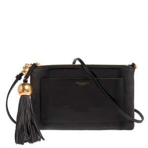 Tory Burch Ombre Patent Leather and Suede Zip Tassel Crossbody Bag