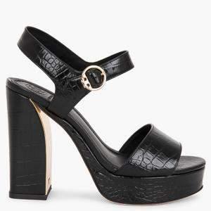 Tory Burch Black Leather Martine Platform Sandals Size EU 39.5