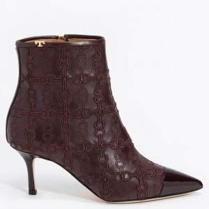 حذاء بوت توري برش لينك مطرز بينيلوبي جلد بني مقاس EU 36.5  (متاح فقط لعملاء دولة الإمارات العربية المتحدة)