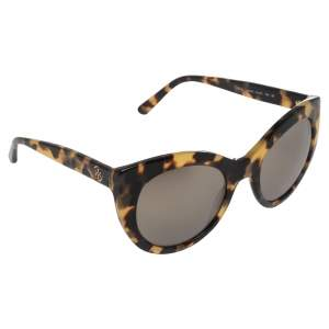 Tory Burch Brown Animal Print Acetate Mirror TY7115 Sunglasses