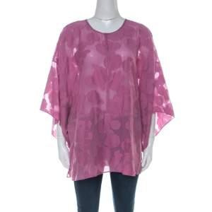 Tory Burch Purple Cotton Silk Fil Coupe Tunic Top XL