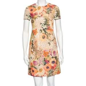 Tory Burch Pink Kaley Floral Printed Jacquard Shift Dress S