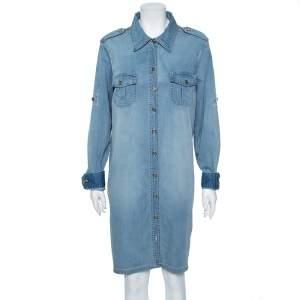 Tory Burch Light Blue Denim Brigitte Shirt Dress XL
