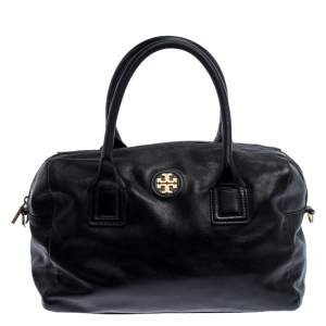 Tory Burch Black Leather Two Way Satchel