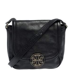 """حقيبة كروس توري برش """"أماندا"""" جلد أسود"""