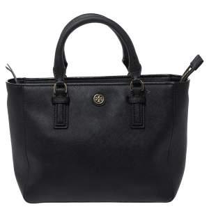 حقيبة توري برش ميني روبنسون جلد أسود