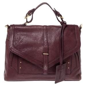 حقيبة توري برش يد علوية جلد بنفسجية