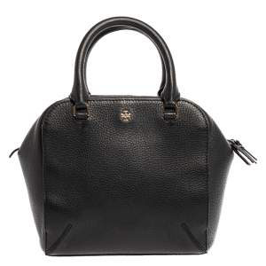 Tory Burch Black Leather Robinson Convertible Satchel