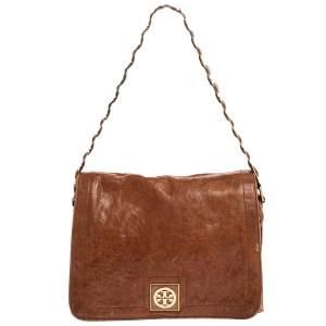 Tory Burch Tan Leather Louisa Shoulder Bag