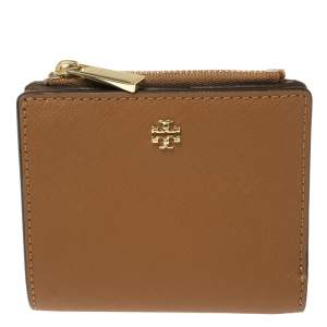 Tory Burch Tan Leather Bifold Card Holder