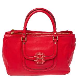 Tory Burch Red Leather Amanda Tote