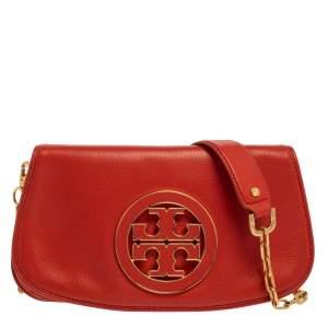 """حقيبة كروس توري برش """"أماندا"""" بالشعار جلد برتقالي"""