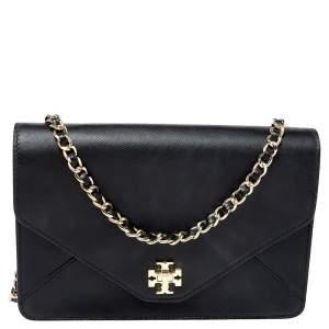 Tory Burch Black Leather Kira Shoulder Bag