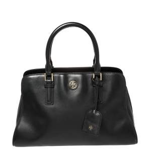 Tory Burch Black Leather Robinson Satchel